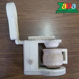 Jucarie filtru de cafea din lemn