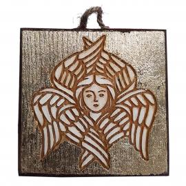 Tablou din lemn, serafim